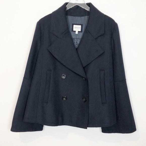 1437073743ea Armani Collezioni Jackets & Coats | Cashmere Angora Navy Coat Xl ...
